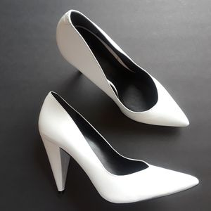 Marc Fisher | white leather heels